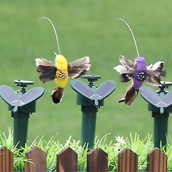 Solar Hummingbird Power Vibration Dancing Fly, Uccelli svolazzanti per Garden Yard