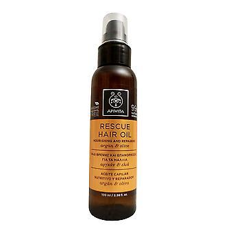 Apivita hjelpe hår olje med Argan & Olive 3.38 OZ