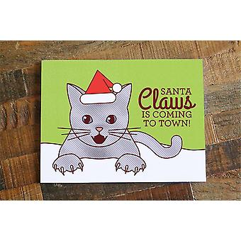 "Drôle de carte de Noël ""santa Claws"""
