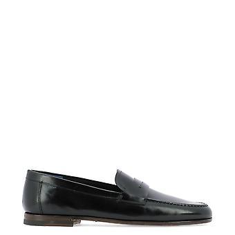 Fabi Fu9870 Men's Black Leather Loafers