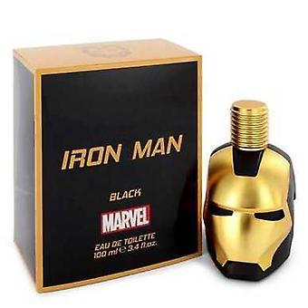 الرجل الحديدي الأسود من مارفل أو دو Toilette رذاذ 3.4 أوقية (رجال) V728-546747
