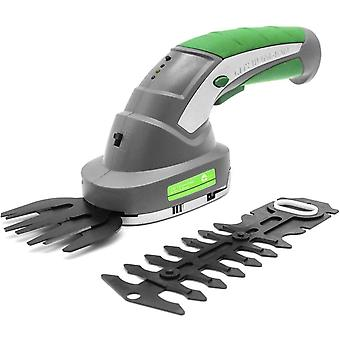 Gracious Gardens 2 IN 1 3.6V Lithium Ion Cordless Hedge Trimmer, Topiary Shears