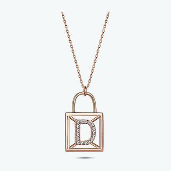 Buchstabe D Gold Halskette