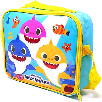 Baby Shark Lunch Bag Lunch Box Sac de depozitare cu suport de sticlă