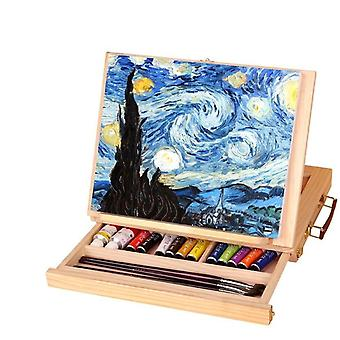 Pintura multifuncional, mesa de artista para cavalete dobrável em miniatura