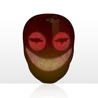 APP-ovládanie LED maska Halloween party tvár-meniace žiariace