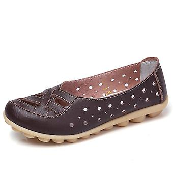 Femmes Genuine Leather Casual Flat Ballet Loafers Chaussures