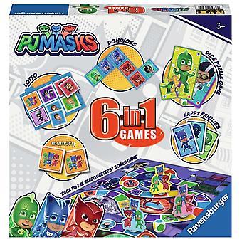 Ravensburger Jigsaw Puzzle PJ Máscaras 6-en-1Games Juego de diversión familiar 21341