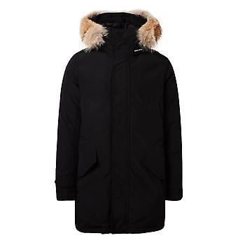 Woolrich Woou0278mrut0001 Men's Black Cotton Outerwear Jacket