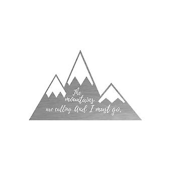 Mountain Quote-inspirational Metal Wall Art