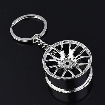 Autotalo Cool Gunmetal Spinning Turbo Avainnippu /turboahdin Keyring Creative
