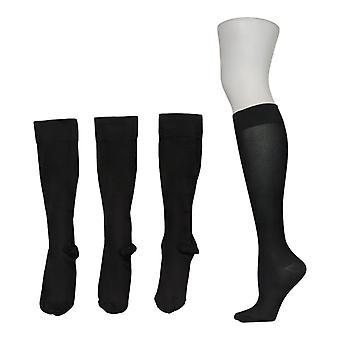 Legacy Women's S/M Graduated Compression Socks 4 Pack Black A294527