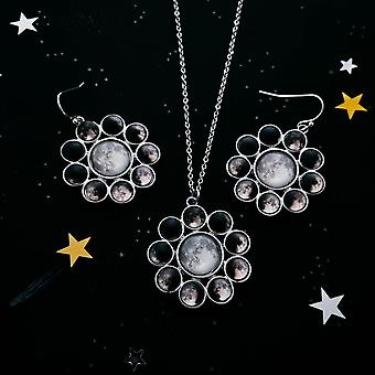 Moon Phase Halo Jewelry Set
