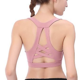 Shockproof gathered beauty back sports bra Q77
