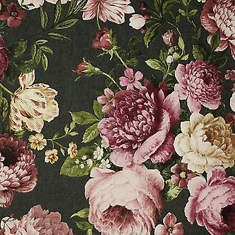 Gobelin Floral Tapet Trækul / Pink Arthouse 297305