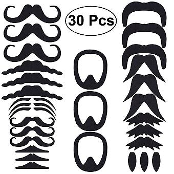 Luoem self adhesive fake mustaches realistic fake mustache for novelty costume masquerade halloween