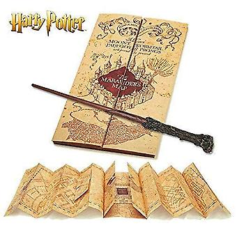 Colectia nobila Harry Potter bagheta & Harry Potter marauders hartă
