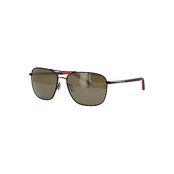 Serengeti Spello 8796 Shiny Black with Red Inside Temple tips/Mineral Polarised 555nm Sunglasses