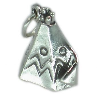 Wigwam Teepee Native Indian Sterling Silver Charm .925 X1 Indians Charms - 2654