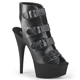 בבקשה נשים&נעליים DELIGHT-683 Blk עור מזויף / בלק מאט