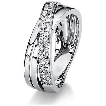 Луна Создание Промеса Кольцо Несколько Каменный Trim 1C017W854-2 - Ширина кольца: 54