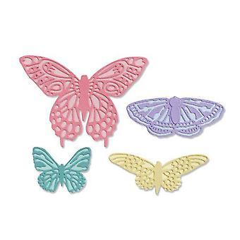 Sizzix Thinlits Die Set - 9pk Flutter On 665097 Jessica Scott