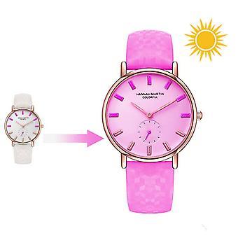 HANNAH MARTIN Solar UV Sensor Zmiana koloru Moda Damski zegarek kwarcowy