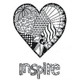 Creative Expressions Zentangled Heart Precut Stamp