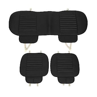 3Pcs car seat cover breathable bamboo pad mat pu leather for auto chair cushion