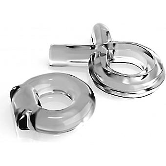 Pipedream Transparent Couples Ring Set