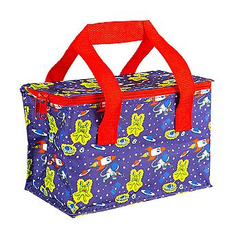 Insulated Lunch Bag Patterned Foil Lined Picnic Sandwich Box Space Mission