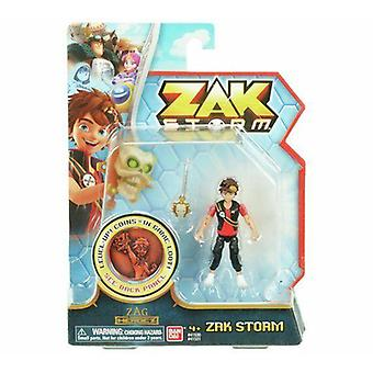 Zak storm action figure with  coin