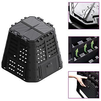 L Garden Composter Black 93.3x93.3x80 Cm 480 L