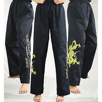 Embroidery Dragon Nunchakus Pants, Martial Arts Trousers