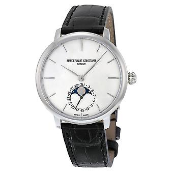 Frederique Constant Slimline Moonphase Silver Dial Men's Watch FC-703S3S6