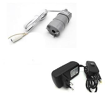 Högtryck dc dränkbar vattenpump och adapter