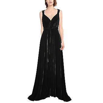 Chic Star Velvet kåbe kjole i sort