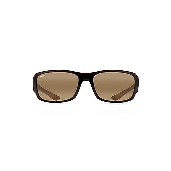 Maui Jim Bamboo Forest Polarized Wrap Sunglasses - Rootbeer - with Patented PolarizedPlus2