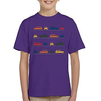 London Taxi Company TX4 Vinklat Färgstarkt Montage Kid's T-Shirt