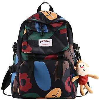 Personalized graffiti college backpack fashion printing student school bag casual backpack