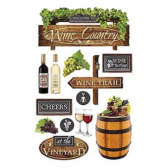 Paper House Productions - 3D Stickers - Wine Country