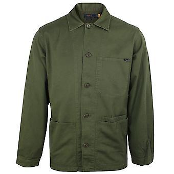 Ralph lauren men's olive overshirt