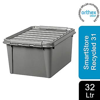 Orthex SmartStore Plastic All Purpose Storage Grey Box, Gerecycled 31 - 32L