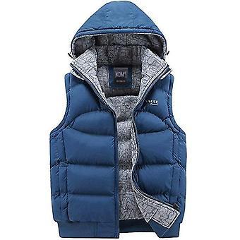 Fashion Sleeveless Jacket Men Thickening 100% Cotton Vest Hat