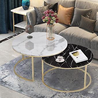 Marmori rakenne sohvapöytä olohuoneen sohvan puolelle
