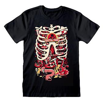 Rick En Morty Dames/Dames Anatomy Park Vriendje T-Shirt