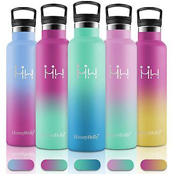 Wokex Vakuum Isolierte Edelstahl Trinkflasche 750ml, BPA Frei Wasserflasche Auslaufsicher
