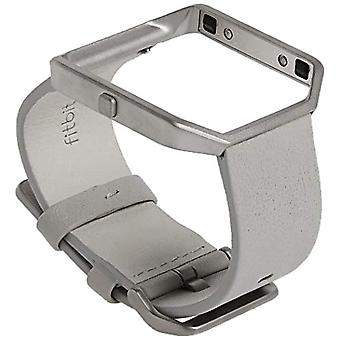 Fitbit Blaze Leather Replacement Strap, Light Grey Size L