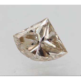 سيرت 0.39 قيراط البني الفاتح VS2 درع شكل الماس فضفاضة الطبيعية 6.01x4.73mm