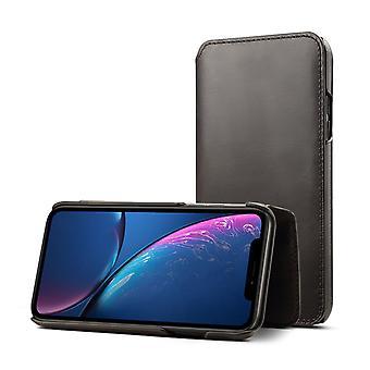 Genuine leather wallet case card slot for samsung s9 black on1381